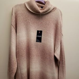 NWT Chaps Ombre Tunic Sweater XXL